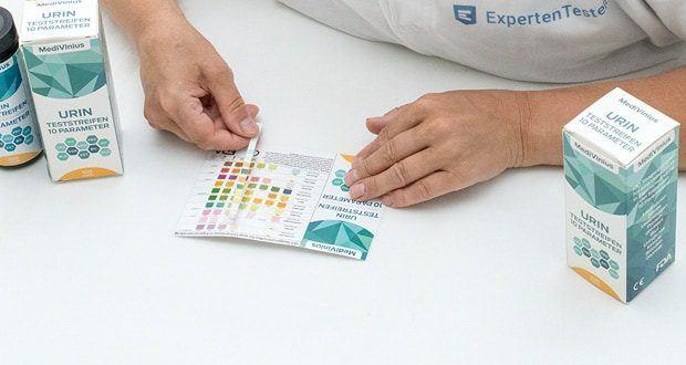 MediVinius 100 Urin Teststreifen mit 10 Parameter im Test