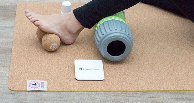 SAPURA Yogamatte Kork und Naturkautschuk im Test - hochwertiger Naturkautschuk ist die ideale Ergänzung zum Oberflächenmaterial aus Kork