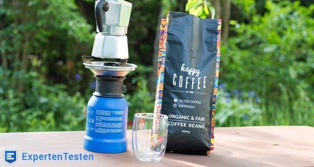 Happy Coffee CHIAPAS Bio Espressobohnen - durch die mittlere Stärke hast du dennoch einen Wachmacher-Effekt