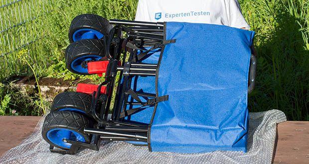 Izzy Bollerwagen faltbar im Test - inklusive Aufbewahrungstasche für den Transport
