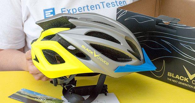 Blackcrevice Fahrrad- & Mountainbike Helm im Test - 3D Fit System: Gurtband-System, verstellbarer Kinnriemen, RTF-Micro Verstellsystem am Hinterkopf