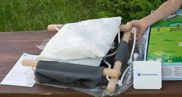 small-foot Babyschaukel Komfort im Test - aus hochwertigem und robustem Buchenholz gefertigt