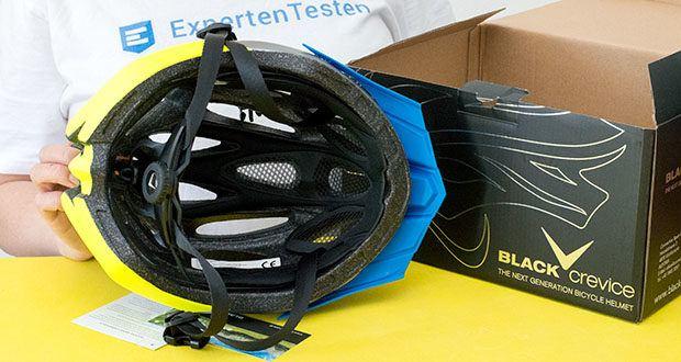 Blackcrevice Fahrrad- & Mountainbike Helm im Test - eine antibakterielle Polsterung und das integrierte Insektennetz sorgen für zusätzlichen Komfort