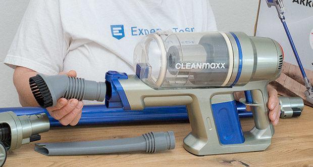CLEANmaxx Akku-Handstaubsauger Sensitive im Test - mit elektrisch rotierender Mikrofaser-Bodendüse, Polsterdüse und Fugendüse