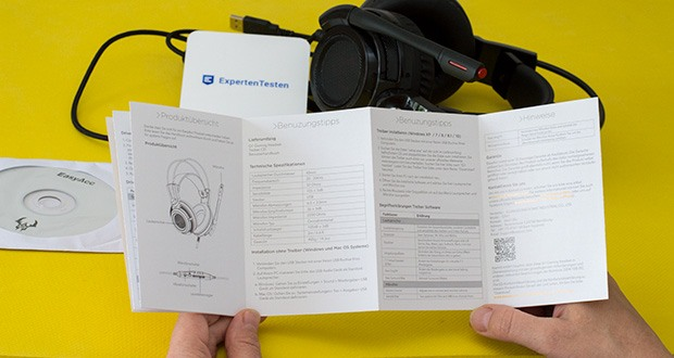 EasyAcc G1 Gaming Headset im Test - durch die Kabelfernbedienung können Sie bequem die Lautstärke einstellen und das Mikrofon aktivieren bzw. deaktivieren sowie die Vibrationsfunktion ein und ausschalten