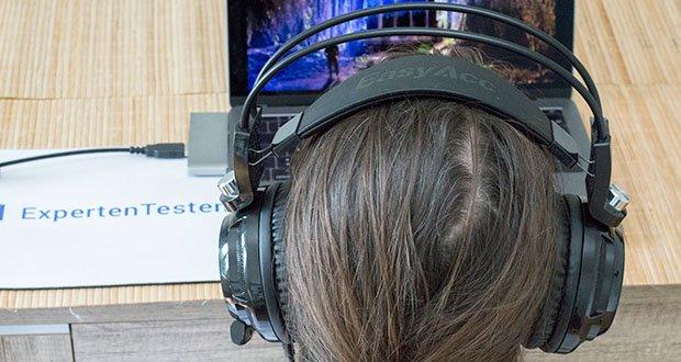 EasyAcc G1 Gaming Headset im Test - große Ohrpoloster für einen komfortablen Sitz