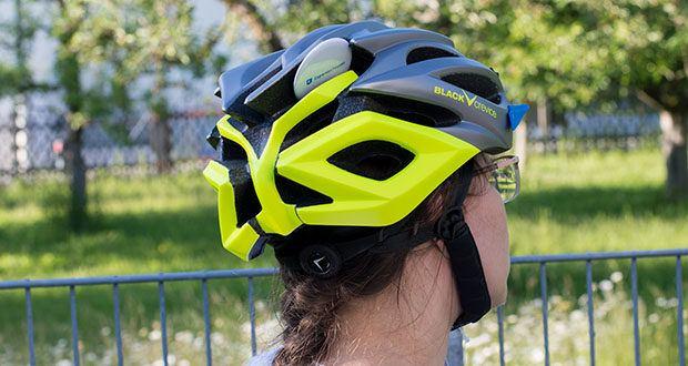 Blackcrevice Fahrrad- & Mountainbike Helm im Test - mit einem einfachen Schnellverschluss lässt sich der Fahrradhelm einfach öffnen und schließen