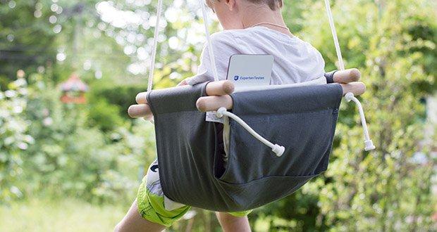 small-foot Babyschaukel Komfort im Test - moderne Design und dezente Farbgebung