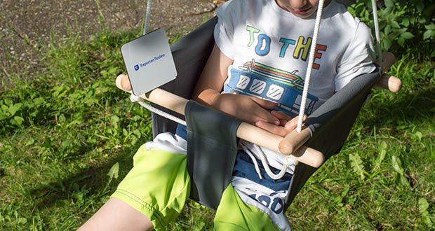 """small-foot Babyschaukel Komfort im Test - bereits zusammengebaut und damit """"ready to swing"""""""