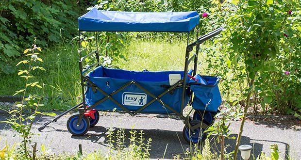Izzy Bollerwagen faltbar im Test - der faltbare Transportwagen