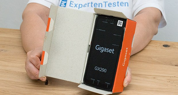 """Gigaset Outdoor Smartphone GX290 im Test - neben dem modernen Design überzeugt das GX290 mit dem großen, rahmenlosen 6.1"""" V-Notch HD+ Display"""