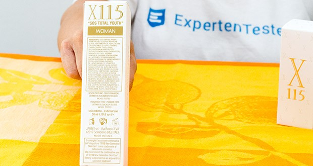 X115 Anti Aging Creme für Frauen im Test - mit Hyaluron ist einer der wichtigsten Anti Aging Wirkstoffe enthalten, der dem Körper wichtige Feuchtigkeitsreserven ermöglicht