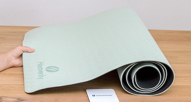 Heavenly Yogamatte Gymnastikmatte im Test - hochwertiges TPE (Thermoplastische Elastomere)