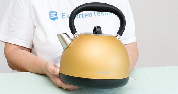 STEPLER Retro-Design Wasserkocher im Test - Maße: Höhe ca. 23cm, Tiefe ca. 18cm, Gewicht 800g