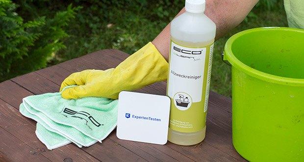 ECO-Clean by LcM Allzweckreiniger 1000 ml im Test - Anwendungsbereiche: Haushalts- und Bodenreinigung, Gartenmöbel, Terrassenbeläge, Fahrrad, Auto & Motorrad, Wohnwagen, Boote, Anhänger und vieles mehr