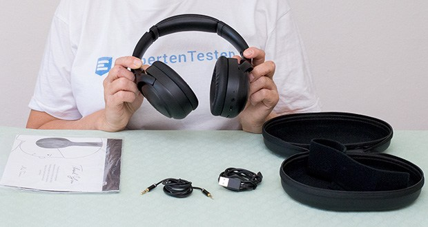 Mu6 Space 2 Bluetooth Kopfhörer im Test - Lieferumgang: 1 x Mu6 Space2 Hybrid-ANC-Ohrhörer, 1x 2,5/3,5mm Audiokabel, 1x USB-Typ-C-Kabel, 1x Ohrhörergehäuse, 1x Benutzerhandbuch