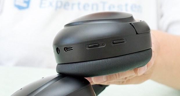Mu6 Space 2 Bluetooth Kopfhörer im Test - Sie können die Menge der Umgebungsgeräusche, die Sie hereinlassen oder ausblenden möchten, mit dem ANC ON / OFF und dem Transparenzmodus steuern