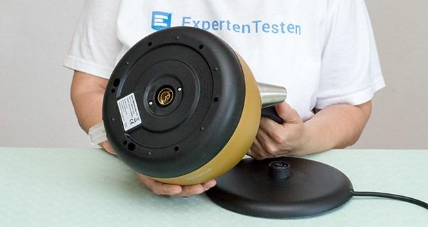 STEPLER Retro-Design Wasserkocher im Test - automatische Abschaltung, sowie Überhitzungs- und Trockenlaufschutz gewährleisten einen sicheren Betrieb