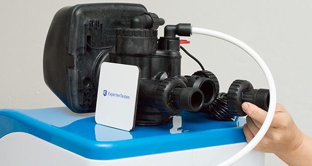 LFS CLEANTEC Wasserenthärter IWKC 1000 im Test - die Wasserenthärtung erfolgt auf Basis von Ionenaustausch: das hochwertige Austauscherharz tauscht die Härtebildner Calcium und Magnesium gegen Natrium-Ionen aus