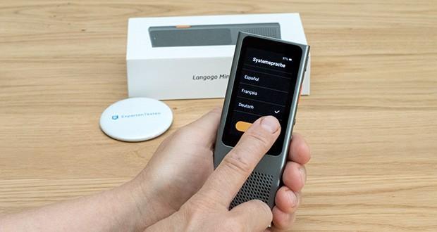 Langogo Minutes Sprachübersetzer und Diktiergerät im Test - unterstützt 8 Systemsprachen: Chinesisch, Englisch, Japanisch, Koreanisch, Französisch, Deutsch und Italienisch