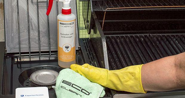 ECO clean by LcM® Backofen- und Grillreiniger 500ml im Test - getrocknete Fett- und Ölreste auf dem Grillrost, der Innenseite des Deckels oder der Abtropffläche werden wie von selbst gelöst und sind einfach mit Wasser abspülbar