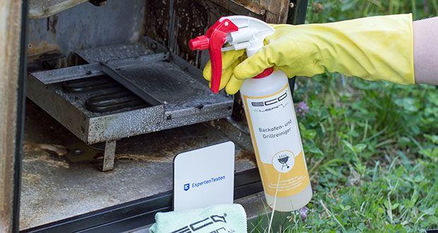 ECO clean by LcM® Backofen- und Grillreiniger 500ml im Test - bei Hartnäckigen Verschmutzungen erneut den Reiniger auftragen und Einwirkzeit verlängert (nicht länger als 3 Stunden)