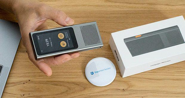 Langogo Minutes Sprachübersetzer und Diktiergerät im Test - kombiniert Online WiFi Sprachübersetzer und Diktiergerät