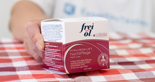 frei öl Anti Age Hyaluron Lift NachtPflege im Test - entwickelt und hergestellt in Deutschland