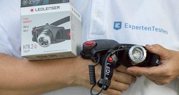 LED-Stirnlampe H7R.2 von Ledlenser ist mit 4 Betriebsarten ausgestattet: Boost-Modus, Low-Power-Modus, Power- und Blink-Modus