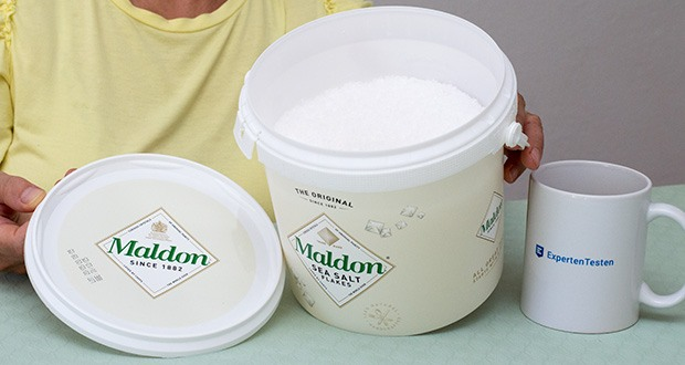 Maldon Sea Salt Flakes Meersalzkristalle im Test - Zutaten: Meersalzflocken; Bio / Organic