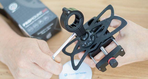 Pro Mount 360 Fahrrad Handyhalterung im Test - inkl. Montagewerkzeug und Lenkerschutz