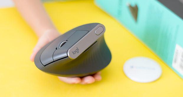 Logitech MX Vertical Bluetooth Maus im Test - der 4000 DPI Hochpräzisionssensor reduziert die erforderliche Handbewegung um das 4-fache und lässt Sie weniger schnell ermüden