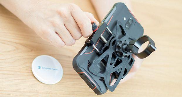 Pro Mount 360 Fahrrad Handyhalterung im Test - passend für Smartphones mit einer Breite von 63mm - 108mm