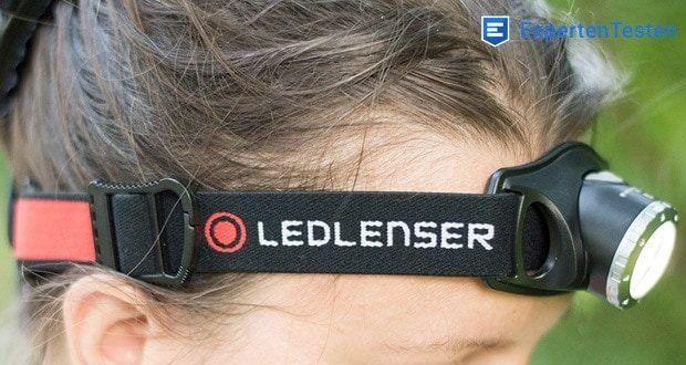 LED-Stirnlampe H7R.2 von Ledlenser hat ein rutschfestes Kopfband, das abnehm- und waschbar ist