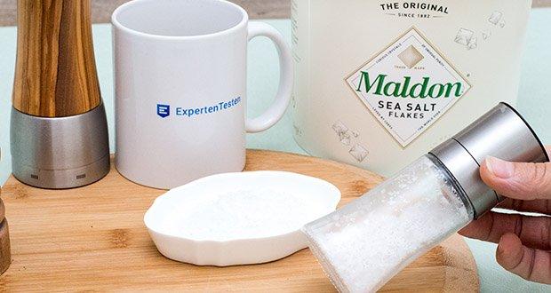 Maldon Sea Salt Flakes Meersalzkristalle im Test - werden von Köchen und Käufer auf der ganzen Welt geliebt