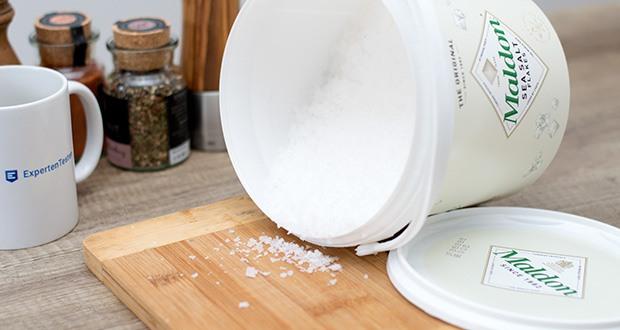 Maldon Sea Salt Flakes Meersalzkristalle im Test - eine Frische, die den Geschmack aller natürlichen und feinen Speisen verstärkt
