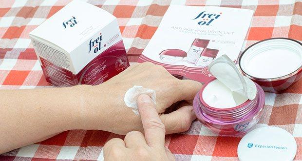 frei öl Anti Age Hyaluron Lift NachtPflege im Test - schützt aktiv vor Hautalterung, regeneriert und verwöhnt die Haut mit reichhaltiger Pflege