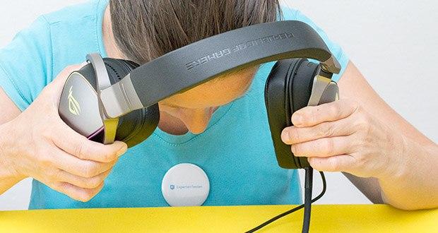 ASUS ROG Delta Gaming Headset im Test - verbesserter Komfort mit ergonomischer D-Form und ROG-Hybrid-Ohrpolstern