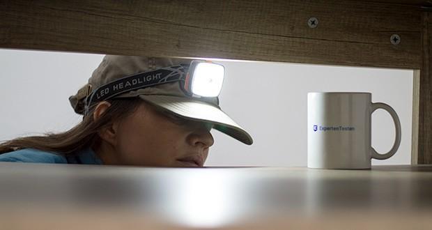 Chilitec LED-Stirnlampe Headlight CTX5 im Test - 50% oder 100% Licht für maximale Akulaufzeit oder Leuchtweite
