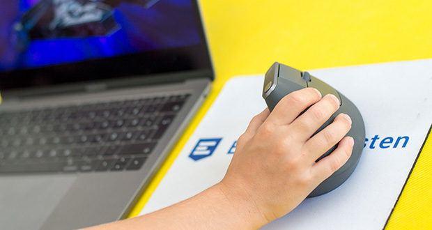 Logitech MX Vertical Bluetooth Maus im Test - ist sowohl für Mac und iPadOS, als auch für Windows optimiert