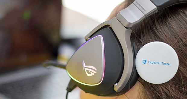 ASUS ROG Delta Gaming Headset im Test - die kreisförmige RGB-Beleuchtung lässt sich individuell anpassen