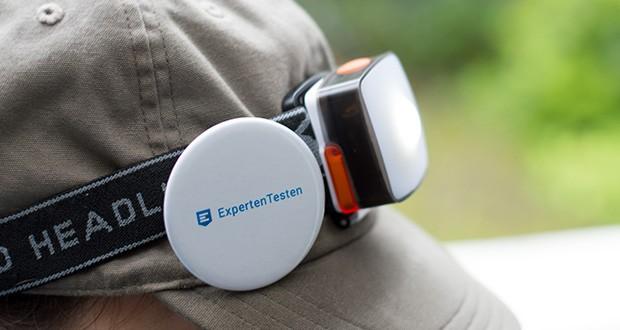Chilitec LED-Stirnlampe Headlight CTX5 im Test - geeignet für Groß und Klein: das Softband hält stabil bei einem Umfang von 50 bis 85cm