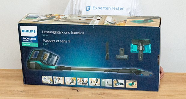 Philips XC8147/01 SpeedPro Max Aqua Staubsauger mit Wischfunktion im Test - Lautstärke: 84 dB