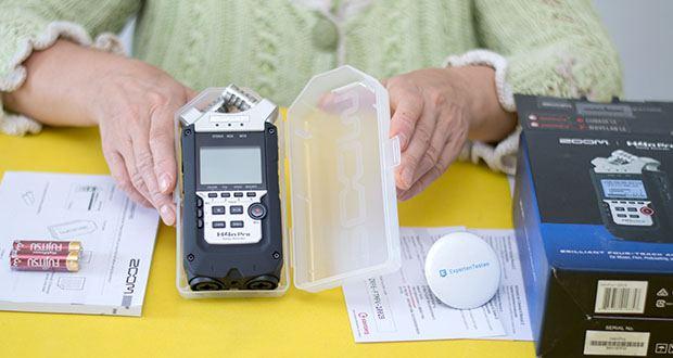 Zoom H4nPro Digital Multitrack Recorder im Test - Lieferumfang: Schutzhülle, 2x AA-Batterien, Bedienungsanleitung, Downloadlizenz für Steinberg Cubase LE8 Software, Downloadlizenz für Steinberg WaveLab LE9 Software