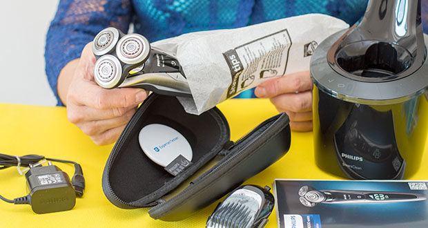 Philips S9711/31 Elektrischer Nass-und Trockenrasierer im Test - Schersystem für glatte Rasur: V-Track Pro Präszisionsklingen