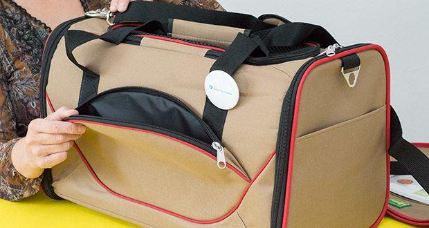 HUNTER KANSAS Tragetasche für Hunde und Katzen im Test - die praktische Außentasche bietet genug Platz für Zubehör