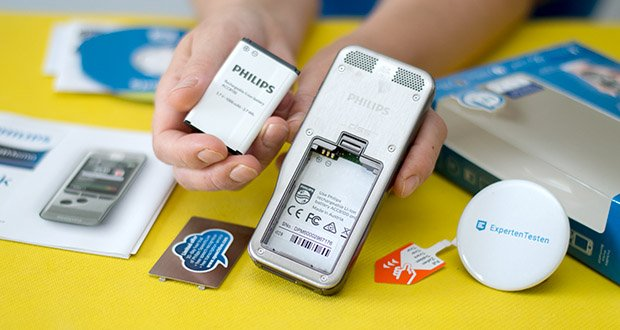 Philips DPM6000 Digitales Diktiergerät im Test - Energiesparfunktionen und ein hochleistungsfähiger Li-Ion-Akku ermöglichen eine verlängerte Aufnahmezeit und ein einfaches Aufladen über eine standardmäßige USB Verbindung