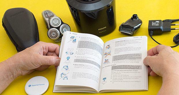Philips S9711/31 Elektrischer Nass-und Trockenrasierer im Test - das V-Track Pro Schersystem führt jedes Haar sanft in die optimale Position, selbst flach anliegende Haare und Haare unterschiedlicher Länge