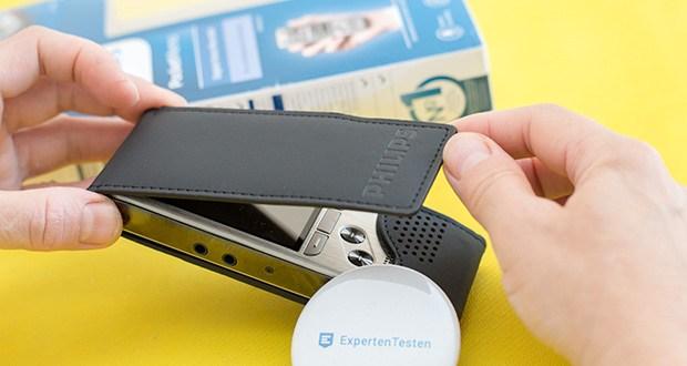Philips DPM6000 Digitales Diktiergerät im Test - mit der Prioritätsfunktion können dringende Diktate mit Vorrang behandelt werden