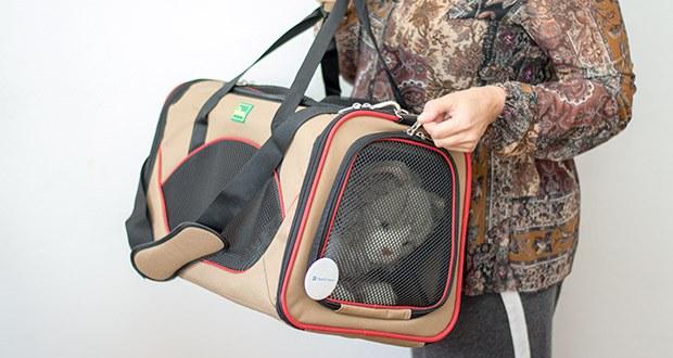 HUNTER KANSAS Tragetasche für Hunde und Katzen im Test - empfohlene Belastbarkeit bis 6,5 kg